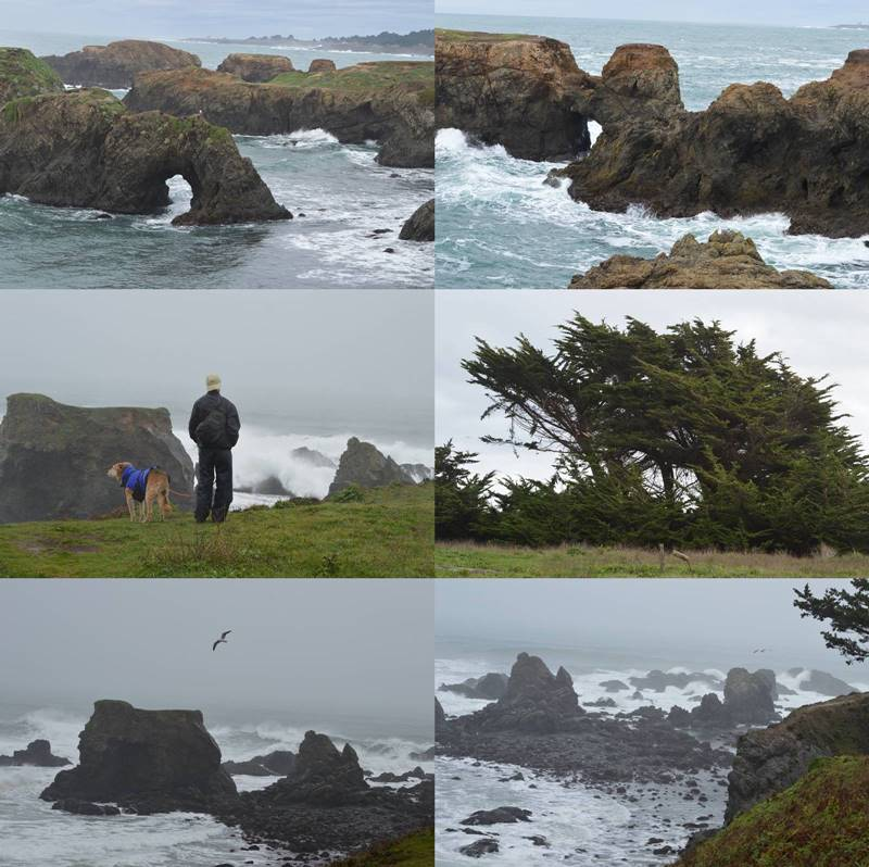 Photos of Mendocino, CA in stormy weather by Sharon Bamber